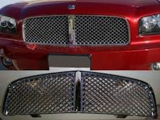 CHARGER 2006-2010 DODGE 4-door (1 piece  Bentley Style Mesh design Replacement  Billet Grille Overlay) SGB46910 QAA