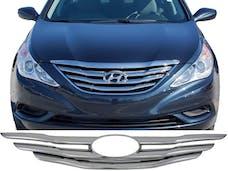 SONATA 2011-2013 HYUNDAI 4-door (2 piece Chrome Plated ABS plastic   Grill Overlay) SGC11360 QAA