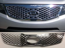 SORENTO 2011-2013 KIA 4-door, SUV (1 piece Chrome Plated ABS plastic   Grill Overlay) SGC11820 QAA