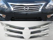 ALTIMA 2013-2013 NISSAN 4-door (6 piece Chrome Plated ABS plastic   Grill Overlay) SGC13550 QAA