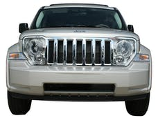 LIBERTY 2008-2012 JEEP 4-door, SUV, SPORT ONLY (1 piece Chrome Plated ABS plastic   Grill Overlay) SGC48070 QAA