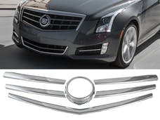 ATS 2013-2015 CADILLAC 4-door, Does not fit Coupe (6 piece Chrome Plated ABS plastic   Grill Overlay) SGC53235 QAA