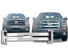F-150 2013-2014 FORD XL, STX, FX2 (4 piece Chrome Plated ABS plastic Snap-On  Grill Overlay) SGC53308 QAA