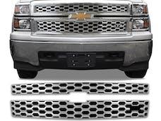 SILVERADO 2014-2015 CHEVROLET 1500, LTZ ONLY (2 piece Chrome Plated ABS plastic Insert  Grill Overlay) SGC54182 QAA