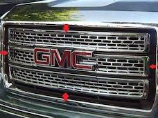 SIERRA 2014-2015 GMC 2/4-door (4 piece Chrome Plated ABS plastic   Grill Overlay) SGC54281 QAA