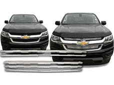 COLORADO 2015-2019 CHEVROLET LT & LW ONLY (2 piece Chrome Plated ABS plastic Insert  Grill Overlay) SGC55150 QAA