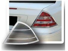 C CLASS 2001-2007 MERCEDES 4-door (2 piece Chrome Plated ABS plastic   Tail Light Bezels) TL23081 QAA