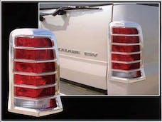ESCALADE 2002-2006 CADILLAC 4-door, SUV (2 piece Chrome Plated ABS plastic   Tail Light Bezels) TL42255 QAA