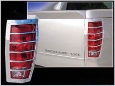 ESCALADE 2002-2006 CADILLAC 4-door, EXT (2 piece Chrome Plated ABS plastic   Tail Light Bezels) TL42257 QAA