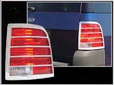 EXPLORER 2002-2005 FORD 4-door, SUV (2 piece Chrome Plated ABS plastic   Tail Light Bezels) TL43305 QAA