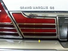 GRAND MARQUIS 2003-2011 MERCURY 4-door, LS (2 piece Stainless Steel Extension Trim  Tail Light Accent Trim Set) TL43481 QAA