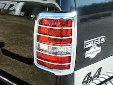 F-150 2004-2008 FORD STYLESIDE (2 piece Chrome Plated ABS plastic   Tail Light Bezels) TL44308 QAA