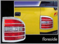 F-150 2004-2008 FORD FLARESIDE (2 piece Chrome Plated ABS plastic   Tail Light Bezels) TL44309 QAA