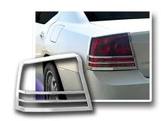 CHARGER 2006-2010 DODGE 4-door (2 piece Chrome Plated ABS plastic   Tail Light Bezels) TL46910 QAA
