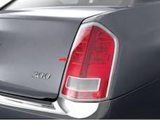 300 2011-2014 CHRYSLER 4-door (2 piece Chrome Plated ABS plastic   Tail Light Bezels) TL51760 QAA