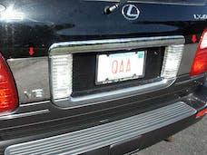 LX470 2004-2007 LEXUS 4-door, SUV (2 piece Stainless Steel   Trunk Hatch Accent Trim) TP24120 QAA