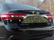AVALON 2013-2018 TOYOTA 4-door (5 piece Stainless Steel   Tail Light Ring Accent Trim) TR13165 QAA