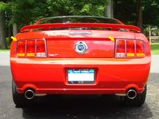 MUSTANG 2005-2006 FORD 2-door (2 piece Stainless Steel 8.625