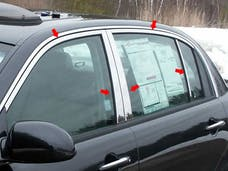 AMANTI 2004-2010 KIA 4-door (10 piece Stainless Steel Includes Upper Trim and Pillar Posts, NO Window Sills  Window Trim Package) WP24800 QAA