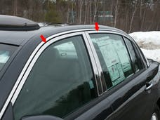 AMANTI 2004-2010 KIA 4-door (4 piece Stainless Steel Includes Upper Trim, NO Pillar Posts, NO Window Sills  Window Trim Package) WP24801 QAA