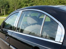 ACCENT 2006-2011 HYUNDAI 4-door (18 piece Stainless Steel Includes Upper Trim, Pillar Posts and Window Sills - FULL Package  Window Trim Package) WP27365 QAA