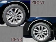 AVALON 2019-2019 TOYOTA 4-door (4 piece Stainless Steel  With 3M adhesive installation and black rubber gasket edging. Wheel Well Accent Trim) WQ19165 QAA