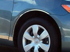 CAMRY 2007-2011 TOYOTA 4-door (4 piece Stainless Steel cut to fit with Rocker kit sold separately With 3M adhesive installation and black rubber gasket edging. Wheel Well Accent Trim) WQ27130 QAA