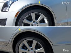 ATS 2013-2018 CADILLAC 4-door, Does not fit Coupe (4 piece Stainless Steel cut to fit with Rocker kit sold separately With 3M adhesive installation and black rubber gasket edging. Wheel Well Accent Trim) WQ53235 QAA