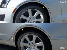 ATS 2013-2018 CADILLAC 4-door, Does not fit Coupe (6 piece Stainless Steel with TRIM CREASE, cut to fit with Rocker kit TH53236 sold separately With 3M adhesive installation and black rubber gasket edging. Wheel Well Accent Trim) WQ53237 QAA