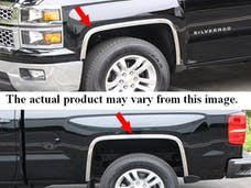 CANYON 2004-2012 GMC 2/4-door (4 piece Molded Stainless Steel With Fender Flares Clip on or screw in installation, Lock Tab and screws, hardware included. Wheel Well Fender Trim Molding) WZ44150 QAA