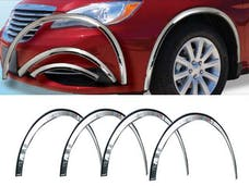 200 2011-2014 CHRYSLER 4-door (6 piece Molded Stainless Steel  Clip on or screw in installation, Lock Tab and screws, hardware included. Wheel Well Fender Trim Molding) WZ51780 QAA