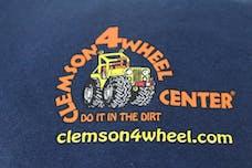 Clemson 4 Wheel Navy Shirt - Small
