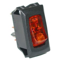 Painless 80414 Small Rocker Switch (On/Off Amber Lighted)