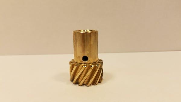 100-4043 Ampco 45 Bronze Distributor Gear, .501 shaft Chevy MSD +.009