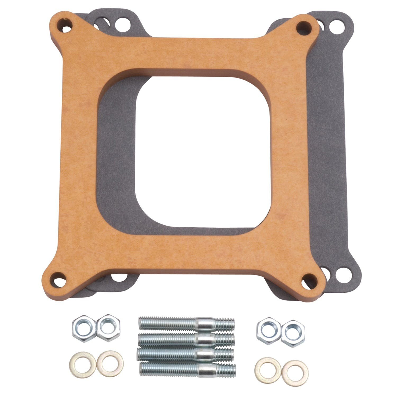 "Edelbrock 8725 Carburetor Spacer 4-Barrel Square Bore 1//2/"" Wood Divided-Wall"