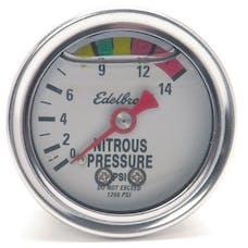 Edelbrock 73801 50 Nitrous System Glycerin-Filled Nitrous Pressure Gauge