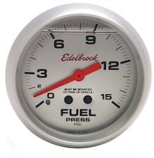 Edelbrock 73828 87 Nitrous System Fuel Pressure Gauge