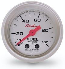 Edelbrock 73829 87 Nitrous System Fuel Pressure Gauge