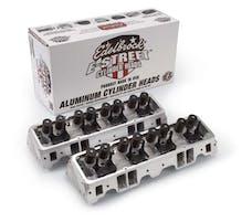 Edelbrock 5089 1 pr. Small-Block Chevy E-Street Cylinder Heads 64cc