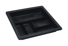 Better Built 23512470 Plastic Truck Tool Box Tray; 5-Pocket Heavy Duty; Tray size is 18in.Wx19in.L.
