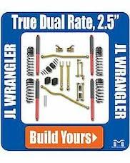 "Metalcloak Jeep Wrangler JL 4dr. 2.5"" True-Dual Rate Suspension System"