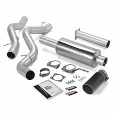 Banks Power 48633-B Monster Exhaust System; S/S-Black Tip-2002-05 Chev 6.6L; Ec/Ccsb