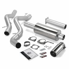 Banks Power 48634 Monster Exhaust System; S/S-Chrome Tip-2002-05 Chevy 6.6L; EC/CCLB