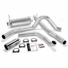 Banks Power 48655 Monster Exhaust System; S/S-Chrome Tip-1999 Ford 7.3L; Truck; Cat
