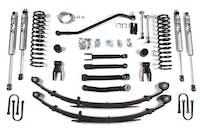 BDS Suspension 434FS 4.5in Front/4in Rear Spring w/Chrysler w/Fox Shox - Jeep Cherokee XJ