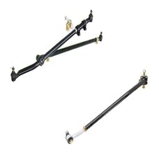 RockJock CE-9120TJJ/CE-9701 Jeep Wrangler TJ/LJ Unlimited/Cherokee/Comanche/Grand Cherokee Currectlync Steering System and Johnny Joint JeepSpeed Front Trac Bar