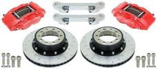 "Alcon BKF5459AX13 - BRAKE KIT, JEEP JK FRONT, CURRIE 60/70, 5X5.5"", 4 PISTON CALIPERS, 357X32MM ROTORS"