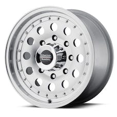 "American Racing AR625873 - Outlaw II - Size 15""x8"", Bolt Pattern 5x5, Offset (-19mm), Backspacing 3.75"" - Machined"