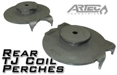 Artec Industries BR1045 - Jeep TJ Rear Coil Perches And Retainers 97-06 Wrangler TJ Pair 3.5 Inch Axle Tube Diameter Artec Industries