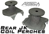 Artec Industries JK4425 - Rear JK Coil Perches And Retainers Pair  Artec Industries